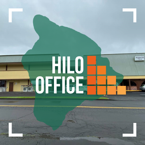 Text image of EHFGC Hilo Office.