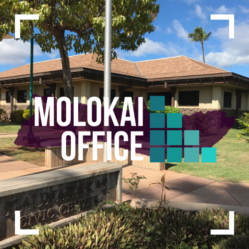 Text image of MFGC Molokai Office.