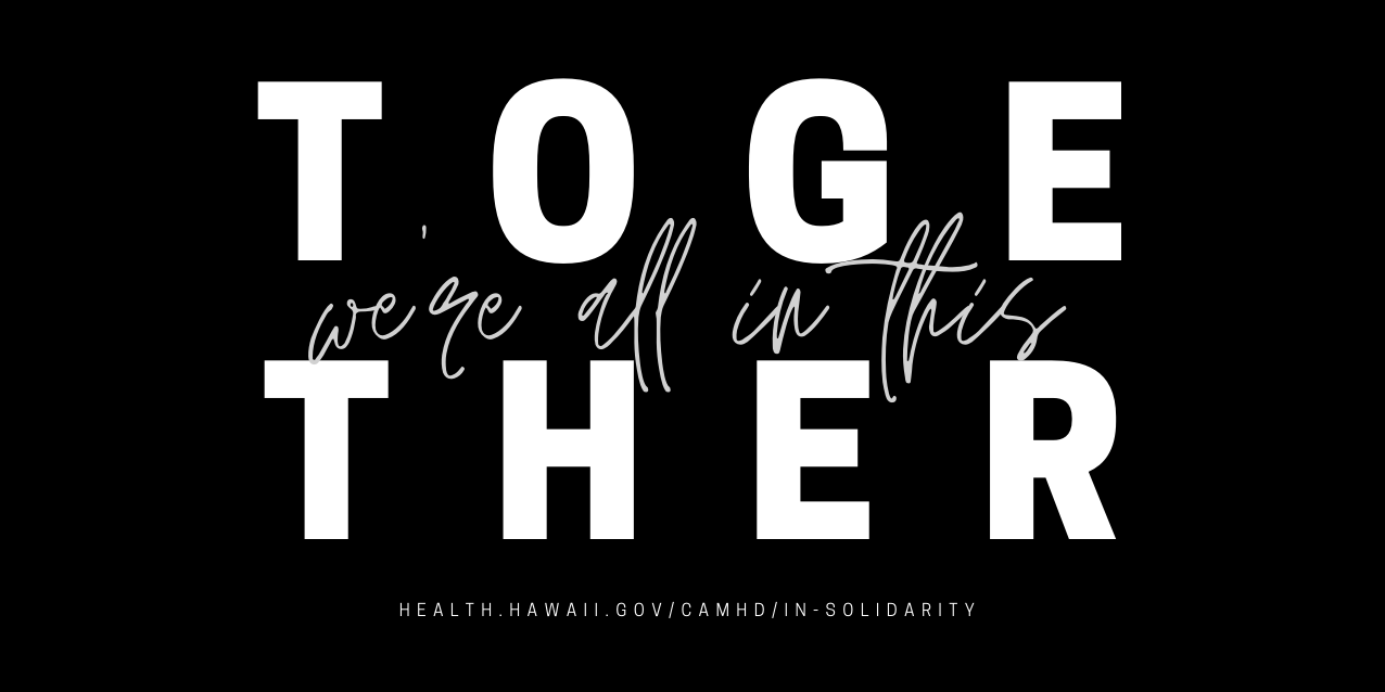 We're all in this together - in solidarity