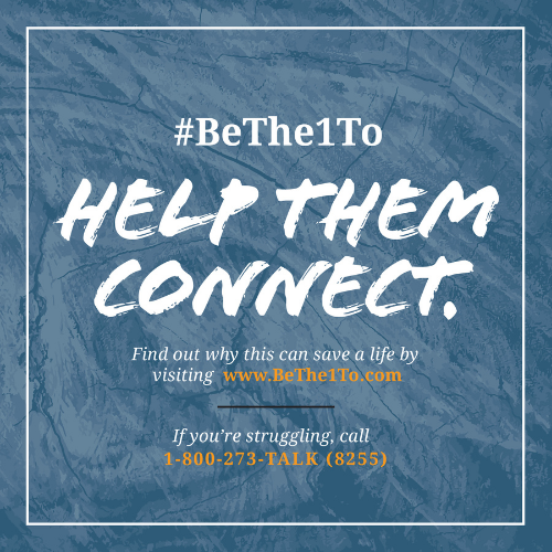 #SPM21 #BeThe1To Help Them Connect