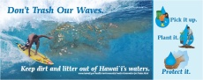 thumbnail image of the 'Don't Trash Our Waves' poster.