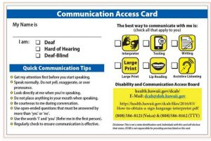 communication access card visor size