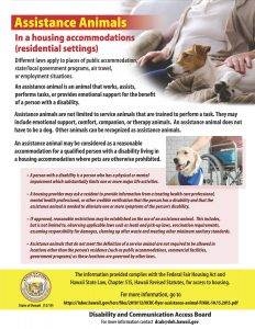 Assistance Animals Flyer