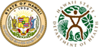 State of Hawaii seal and DOH logo