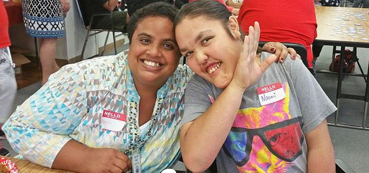 Photo: Mary Ann and Naomi at SAAC Holiday Party