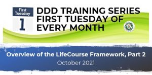 DDD Training Series: First Tuesday of Every Month - Overview of the LifeCourse Framwork Part 2