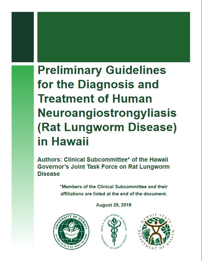 Disease Outbreak Control Division | Angiostrongyliasis (Rat Lungworm)