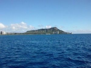 Sailing off of diamond head 1.1.14