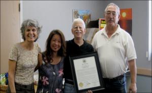 Photo of IPAC Board Members - 2010 - Therese Argoud Planner; Suzanne Oakland-Chun Hawaii State Senator; Eric Tash founder of IPAC;Robert Kane-co-chair
