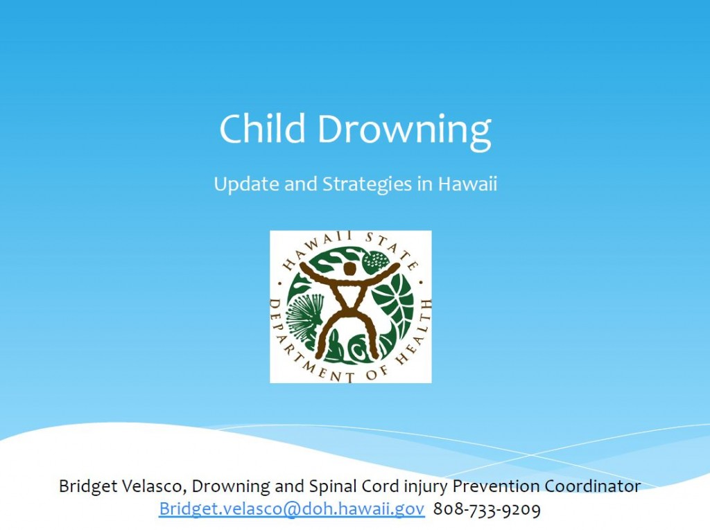 click for child drowning presentation