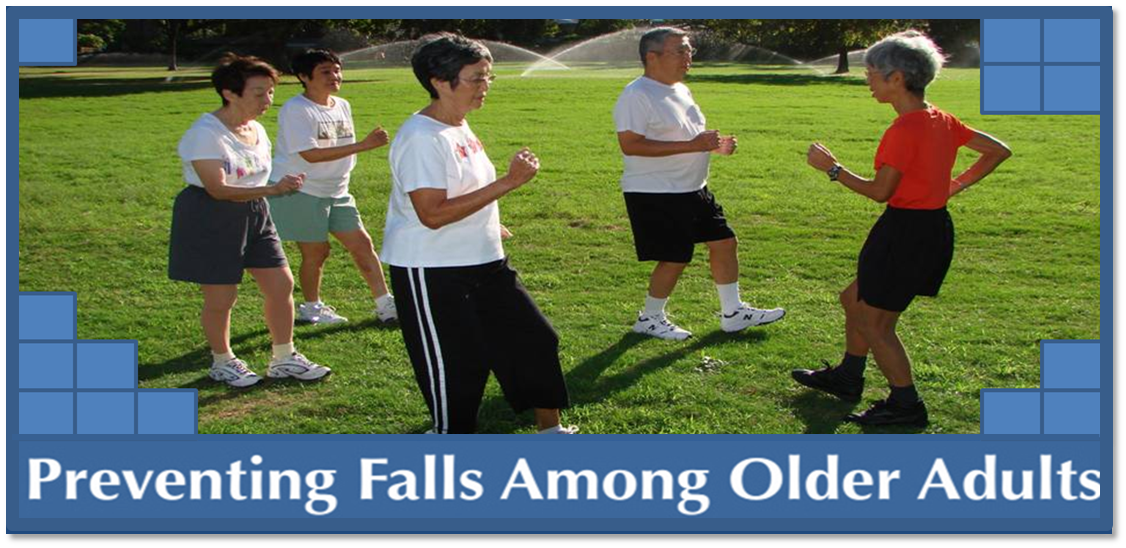 banner preventing falls among older adults