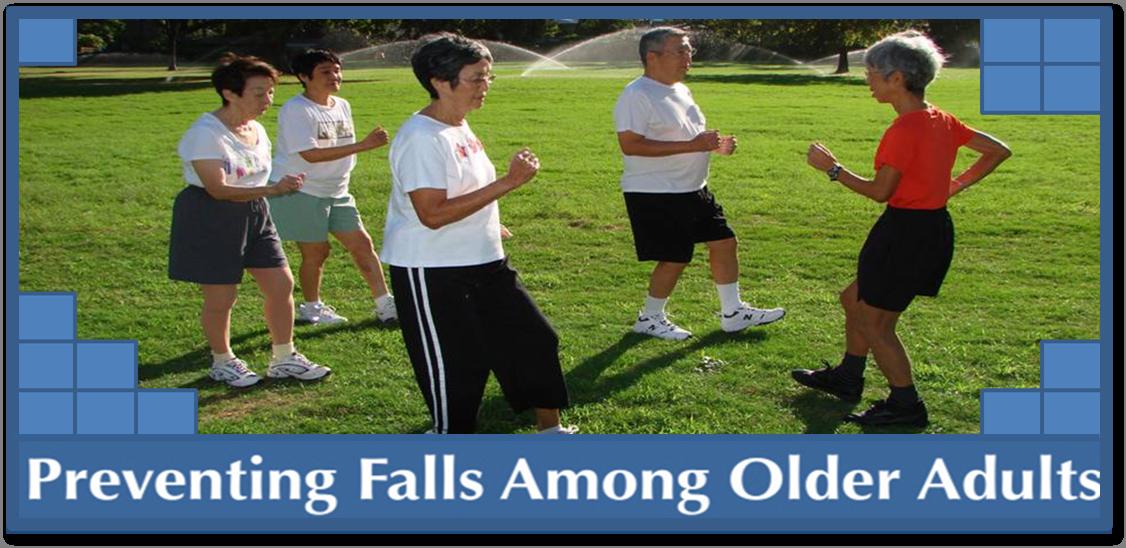 banner preventing falls among older adults
