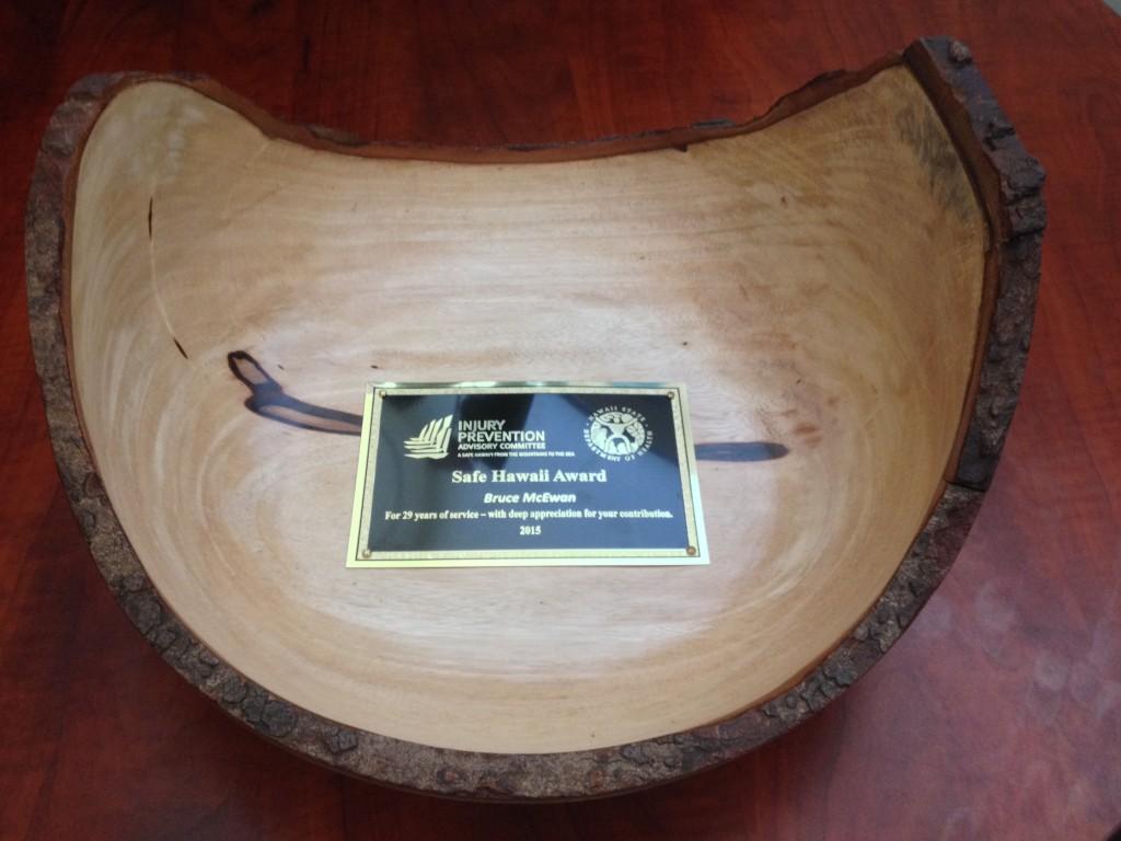 Safe Hawaii Award 2015 - Bruce McEwan