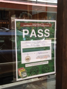 Scratch Restaurant first placard
