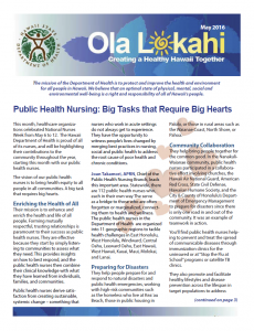 Ola Lokahi Newsletter – May 2016 post thumbnail