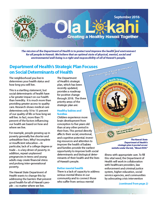 Ola Lokahi Newsletter – September 2016 post thumbnail