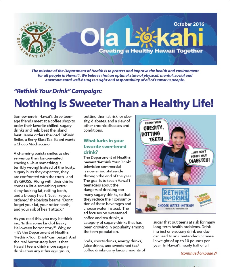 Ola Lokahi Newsletter – October 2016 post thumbnail