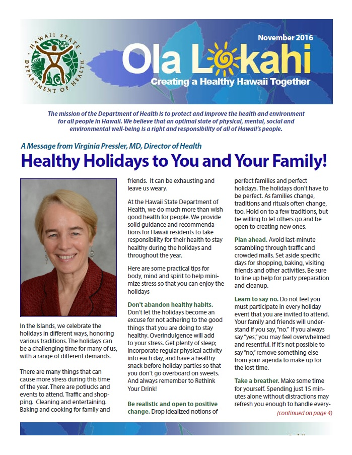 Ola Lokahi Newsletter – November 2016 post thumbnail