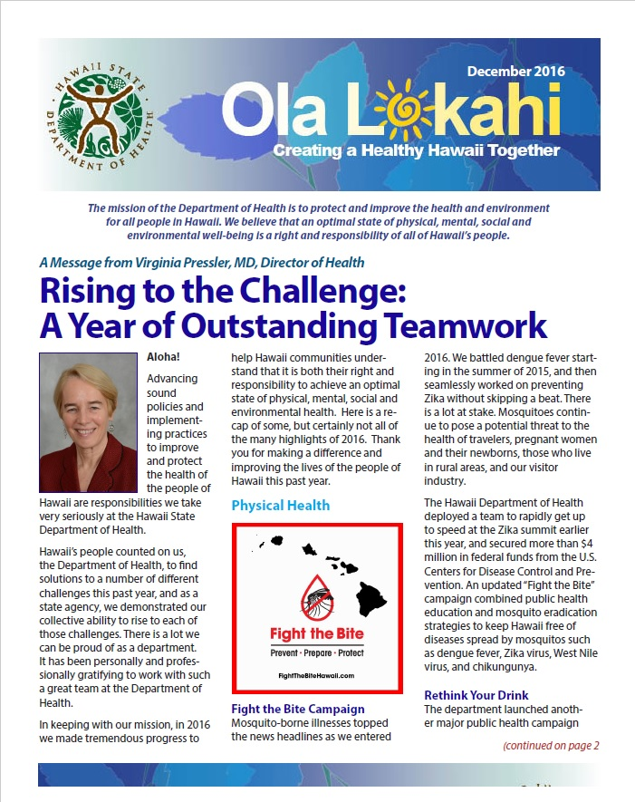 Ola Lokahi Newsletter – December 2016 post thumbnail