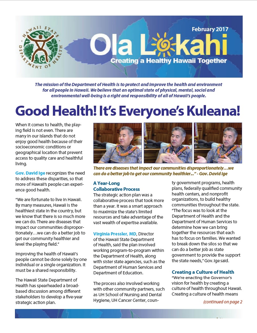 Ola Lokahi Newsletter – February 2017 post thumbnail