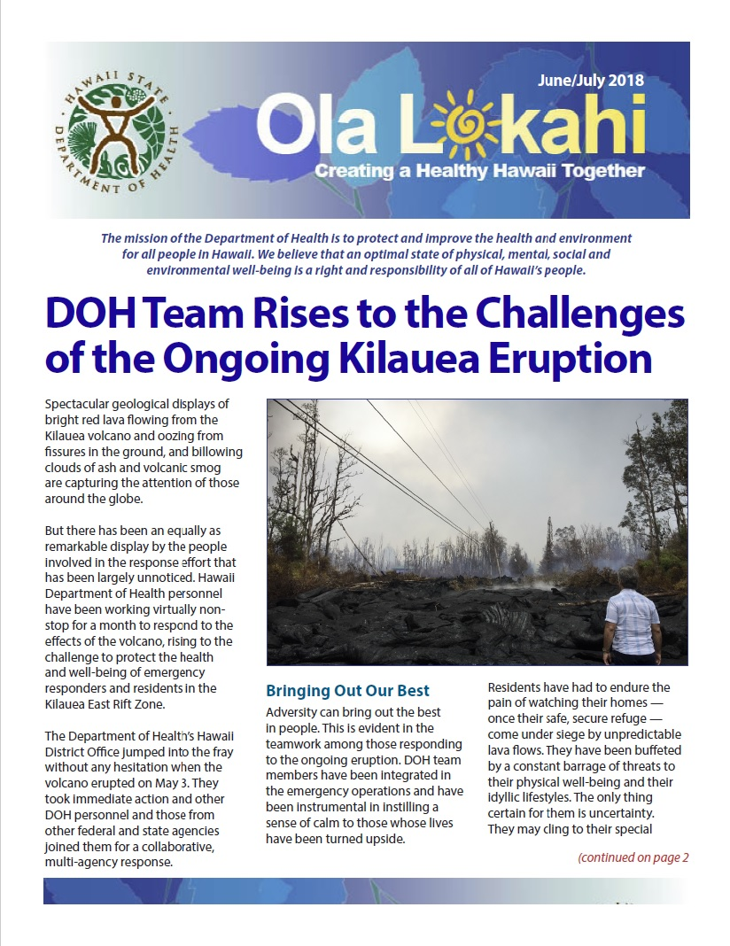Ola Lokahi Newsletter – June/July 2018 post thumbnail