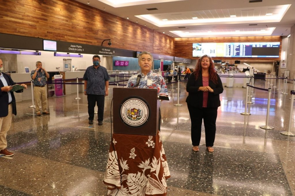 Governor David Ige at Airport News Briefing June 1, 2020