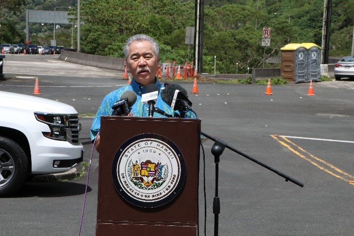 governor talks about H-3 Surge COVID-19 Testing