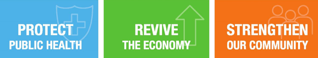 Protect public health - Revive the economy - Strengthen our community