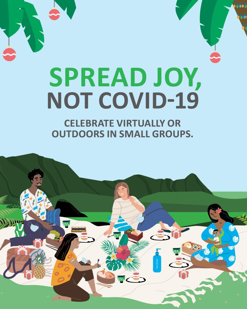 Spread Joy Not COVID-19 Celebrate virtually or outdoors in small groups