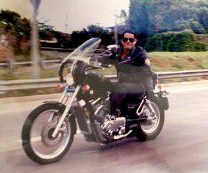 Photo: Bill Rodrigues riding a motorcycle