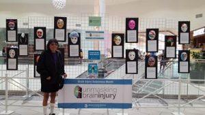 Photo: Val with unmasking brain injury profiles