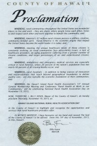 Hawaii Island Proclamation