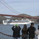 Grand Princess cruise ship in San Francisco Bay