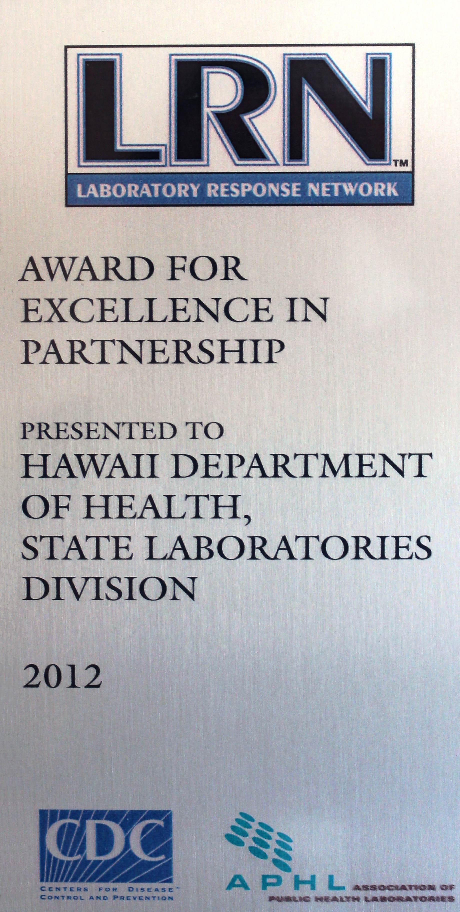 Public Health & Environmental Laboratories   Recognition ...