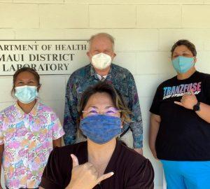 Maui District Health Laboratory Staff with Dr. Desmond